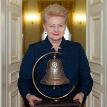 Prezidentė popiežiui Pranciškui dovanos Laisvės varpą