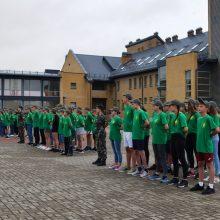 Pasieniečių mokykloje atidaryta jaunųjų pasieniečių, šaulių ir gelbėtojų stovykla