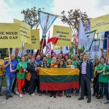 Prezidentė Briuselyje susitiko su streikuojančiais Lietuvos žemdirbiais