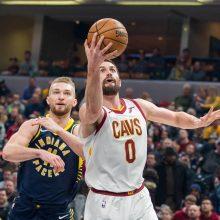 """D. Sabonis atliko dvigubą dublį, o """"Pacers"""" nugalėjo NBA vicečempionus"""