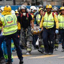 Renovuojamame Madrido viešbutyje sugriuvus pastoliams žuvo vienas žmogus, 11 sužeisti