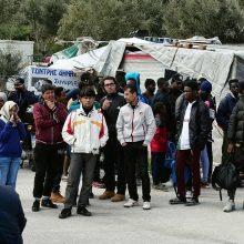 Pabėgėlių stovykloje Graikijos Lesbo saloje kilo riaušės