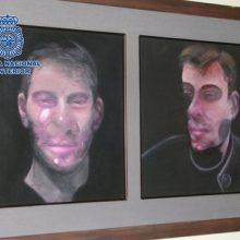 Ispanijos policija surado tris pavogtus britų tapytojo F. Bacono paveikslus