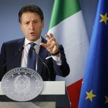 Italijos premjeras G. Conte tikisi greitai susitarti su EK dėl šalies biudžeto
