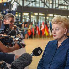 """D. Grybauskaitė: Didžioji Britanija turėtų nuspręsti, ko ji nori iš """"Brexit"""""""