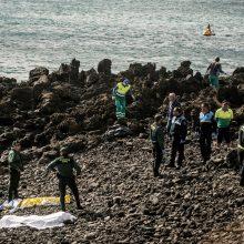 Mėginę pasiekti Kanarų salas žuvo septyni migrantai iš Afrikos