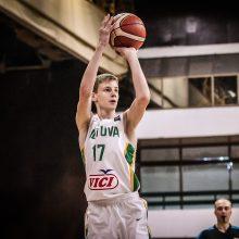 Lietuvos jaunučių krepšinio rinktinė Europos čempionate kovos dėl septintosios vietos