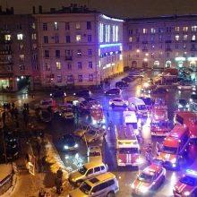 Sankt Peterburgo prekybos centre sprogus bombai sužeisti 11 žmonių