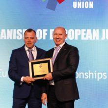 Lietuvos dziudo federacijos prezidentui – garbingas apdovanojimas
