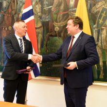 Lietuvos ir Norvegijos gynybos ministrai aptarė augančią Rusijos grėsmę