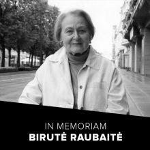 Mirė aktorė B. Raubaitė