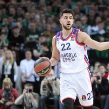 """""""Anadolu Efes"""" komanda įveikė """"Chimki"""" krepšininkus"""