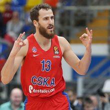 A. Gudaitis žaidė rezultatyviai, bet Milano ekipa nusileido CSKA krepšininkams