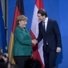 Vokietijos ir Austrijos kancleriai nesutarė dėl migrantų kvotų