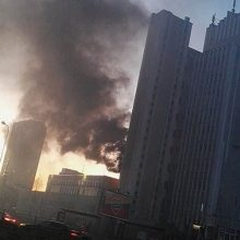 Vilniuje – gaisras prie Spaudos rūmų