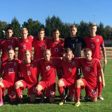 Lietuvos U-19 futbolo rinktinė išleido pergalę prieš Suomiją paskutinėmis minutėmis