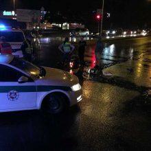 Avarija Panevėžyje: sužalotas su BMW susidūręs motociklininkas