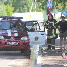 Ugniagesius ant kojų sukėlė gaisras Aleksote
