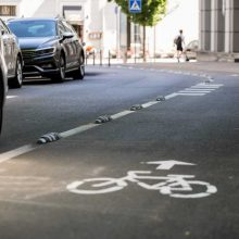 Rūdninkų gatvėje – daugiau erdvės dviratininkams