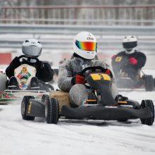 Aukštadvaryje kartingo lenktynininkų laukia lemiama šios žiemos kova