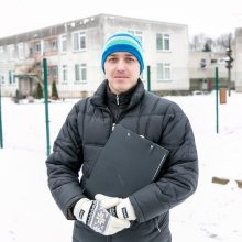 """Bendrovės """"Statybų sritis"""" antausis statybininkams iš Ukrainos"""