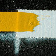 Už šaligatvių bortelių spalvinimą pajūryje – baudos