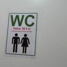 """Į """"Norfos"""" tualetą – tik už pinigus"""