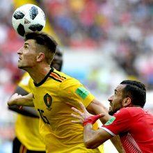Belgijos futbolininkai užtikrintai pranoko Tunisą