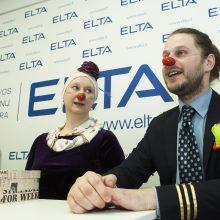 Pagalba susirgus – gydytojai klounai dalijosi išbandytais receptais