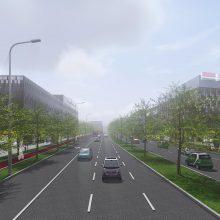 Pamatykite, kaip atrodys nauja Šiaurinės gatvė sostinėje