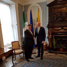 L. Linkevičius su Airijos prezidentu aptarė bendradarbiavimo stiprinimą