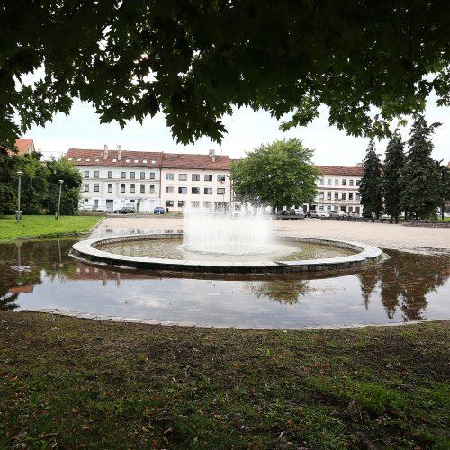 Po lietaus apsemtas Kauno senamiestis  © Aliaus Koroliovo nuotr.