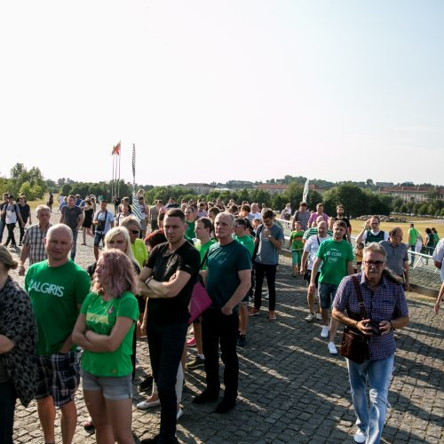 """Aistruoliai renkasi į """"Žalgirio"""" areną  © Kauno dienos nuotr."""
