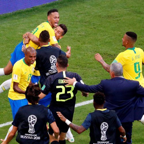 Pasaulio futbolo čempionato aštuntfinalis: Brazilija – Meksika