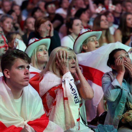 Pasaulio futbolo čempionato pusfinalis: Kroatija - Anglija 2:1  © Scanpix nuotr.