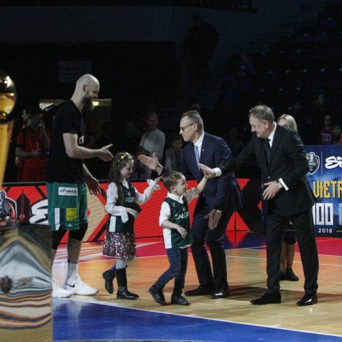 """Karaliaus Mindaugo taurę iškovojo """"Žalgirio"""" krepšininkai  © Vytauto Liaudanskio nuotr."""
