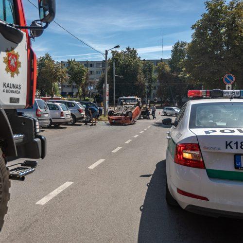 Avarija Mituvos gatvėje  © Eitvydo Kinaičio nuotr.