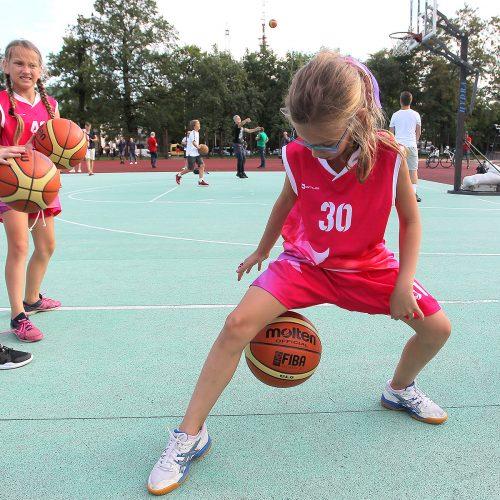 Atvira treniruotė su krepšinio žvaigždėmis