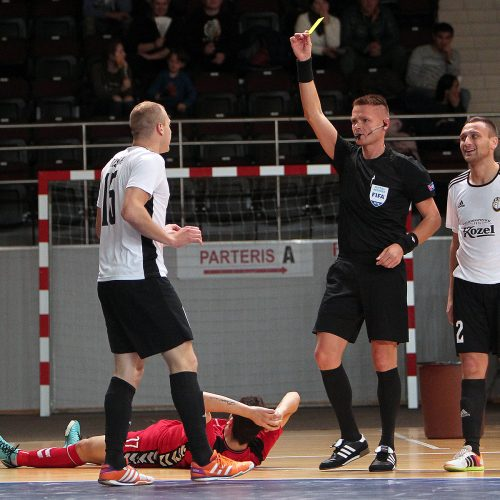 """Futsalas. """"Vytis"""" – """"KMN Dobovec"""" 1:2  © Evaldo Šemioto nuotr."""