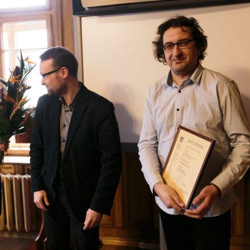 Įteikta premija už kūrybiškiausią 2017 metų knygą  © G. Bartuškos, ELTA nuotr.