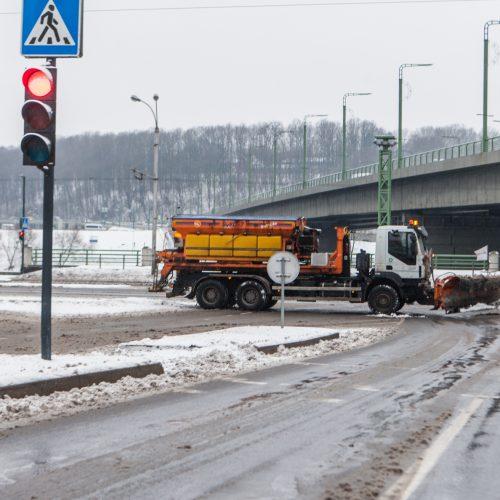 Sudėtingos eismo sąlygos Kaune