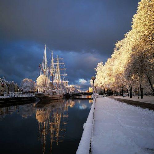 Sniegas Klaipėdoje