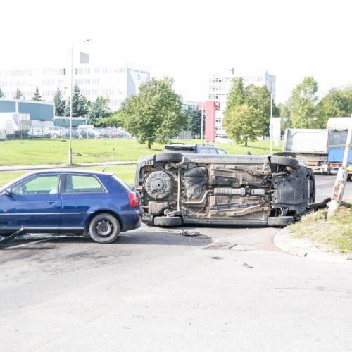 Dviejų automobilių avarija Taikos prospekte