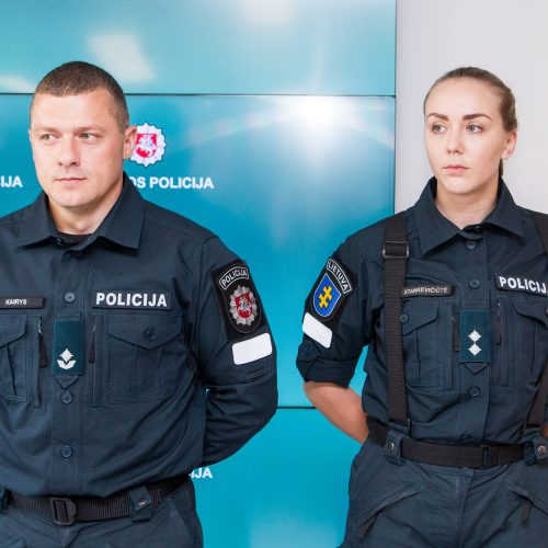 Policija pristatė naujas pareigūnų uniformas  © P. Peleckio / BFL nuotr.