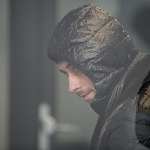 Žudiku tapusio plešiko Luko Majaucko teismas  © Vilmanto Raupelio nuotr.