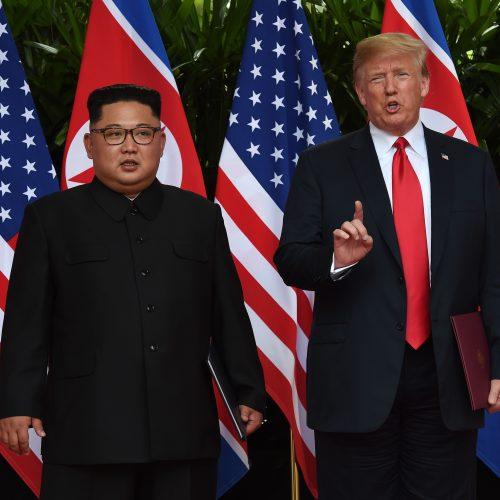 D. Trumpo ir Kim Jong Uno susitikimas Singapūre  © Scanpix nuotr.