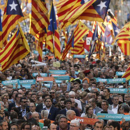 Milžiniškas protestas Barselonoje  © Scanpix nuotr.