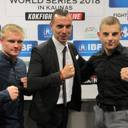 Profesionalų bokso ir bušido turnyro pristatymas  © Evaldo Šemioto nuotr.