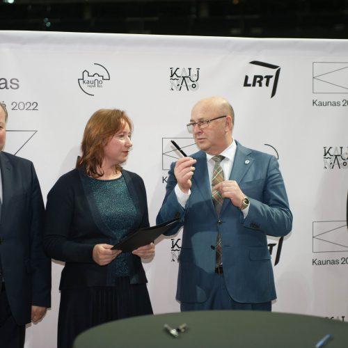 """""""Kaunas 2022"""" ir LRT bendradarbiavimo sutartis  © Akvilės Snarskienės nuotr."""