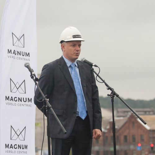 """Verslo centro """"Magnum"""" statybų pradžia  © Akvilės Snarskienės nuotr."""